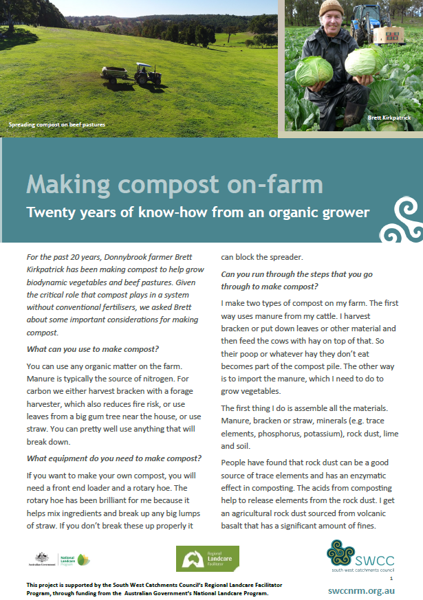Making compost on-farm: 20 years of know-how from an organic farmer